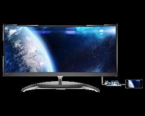 "Philips 34"" BDM3490UC UWQHD IPS Curved 3440 x 1440p Monitor"