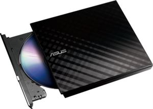 ASUS SDRW-08D2S-U Lite Portable External DVD Writer - Black