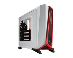 Corsair Carbide SPEC-ALPHA Mid-Tower Gaming Case - Red and White