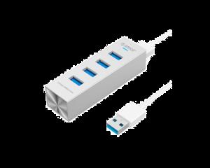 4 Port Orico USB 3.0 Hub  - Aluminum Silver