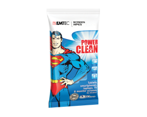 Emtec Superman Flow Pack For Screen 50 Wet Wipes
