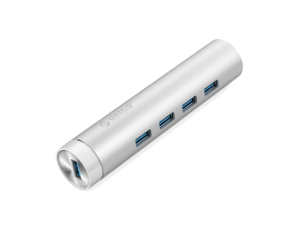 Orico 4-Port Type-C USB 3.0 Hub - Silver