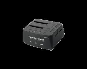 "Welland Turbo Leopard  2.5""/3.5"" SATA to USB 3.0 Dual Dock Enclosure - Black - ME-603E"