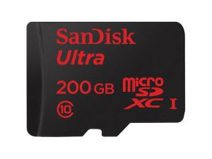 Sandisk 200GB MicroSDXC UHS-I Ultra Class 10 MicroSD Card