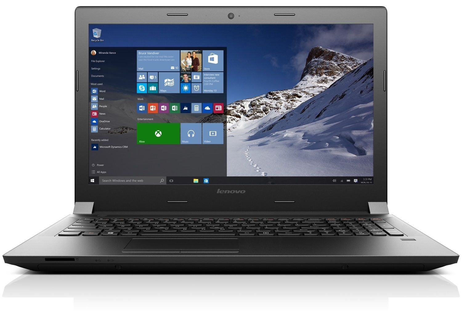 "Lenovo B4130 14"" HD Wireless AC Windows 10 Laptop"