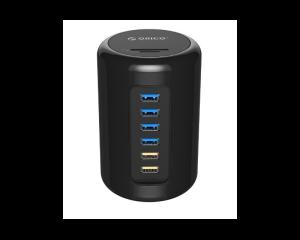 ORICO 6 Port USB 3.0 Hub with Card Reader DC12V