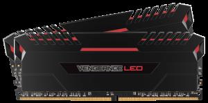 Corsair Vengeance (2x8GB) 16GB DDR4 2666Mhz Black - Red LED