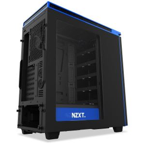 NZXT H440 Matte Black And Blue Mid Tower