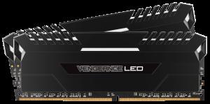 Corsair DDR4 32GB (2x16GB) 3200MHZ C16 Black - White LED