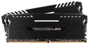 Corsair DDR4 32GB (4x8GB) 3000MHZ C15 Black - White LED