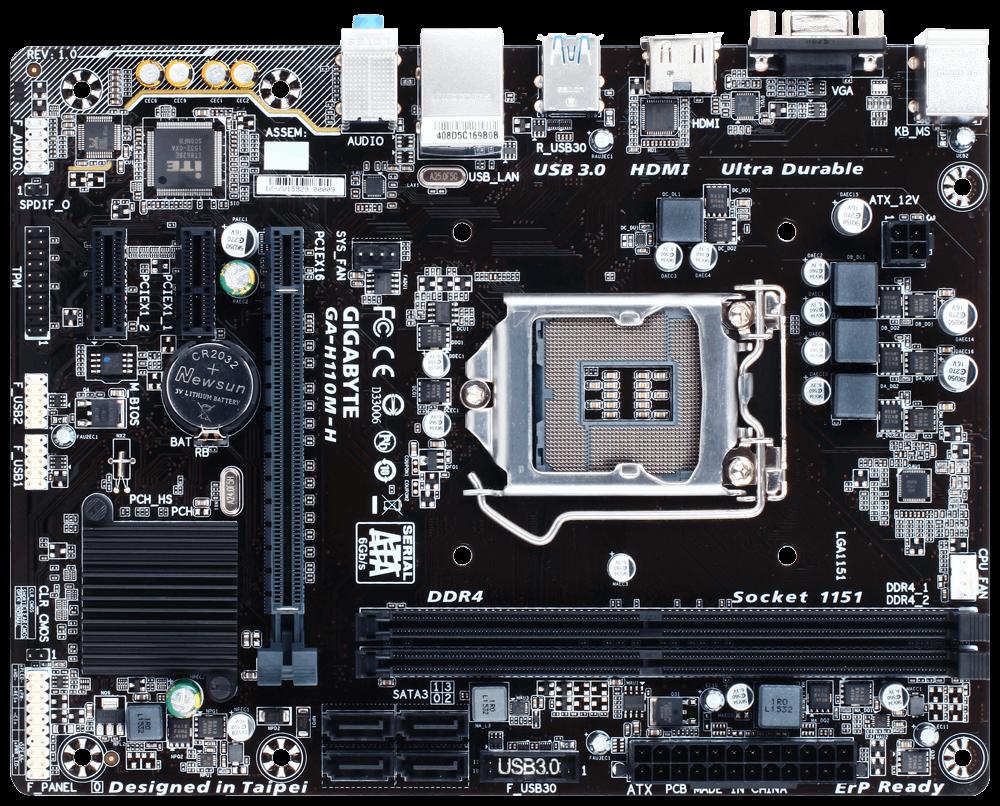 Gigabyte GA-H110M-H Motherboard DDR4 (GA-H110M-H) | Centre ...