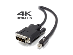 ALOGIC Elements ACTIVE  1m Mini DisplayPort to DVI-D Cable with 4K Support - Male to Male