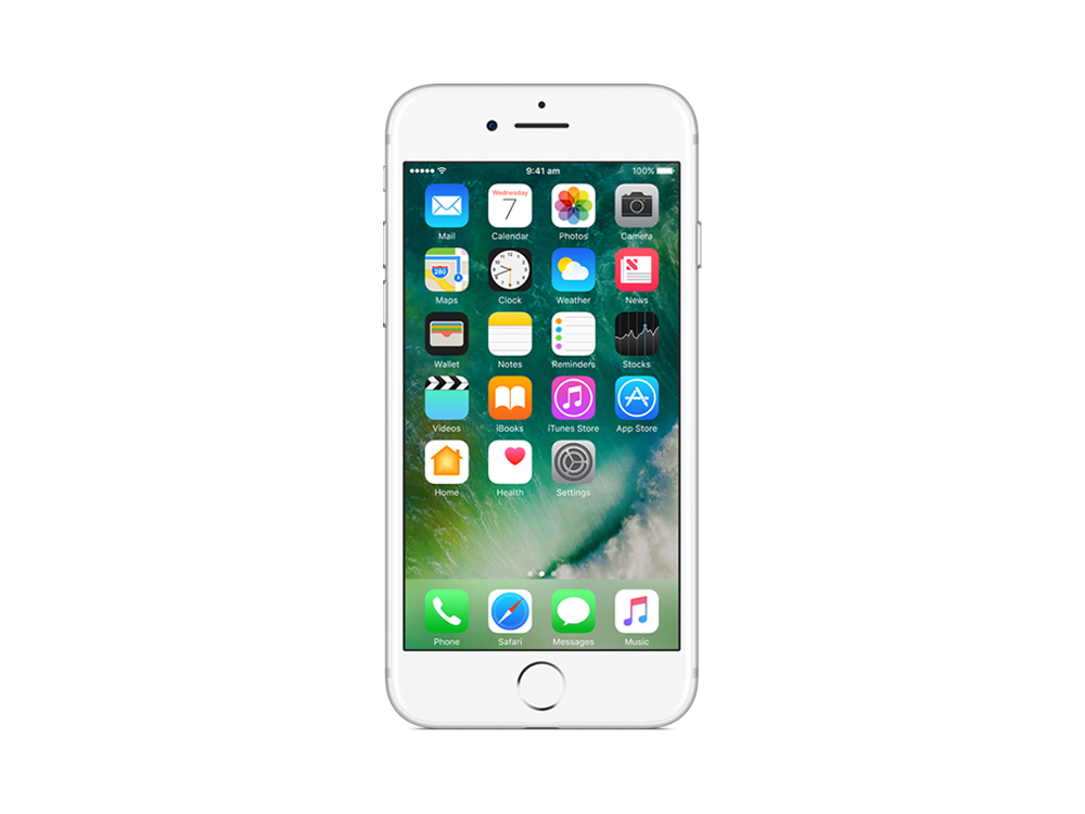 apple iphone 7 128gb silver mn932x a centre com best pc hardware prices. Black Bedroom Furniture Sets. Home Design Ideas