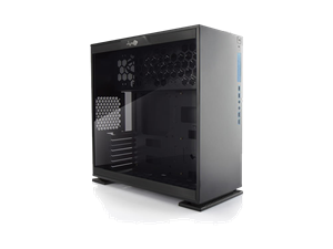 IN WIN 303 Black Mid Tower With Tempered Glass Side Panel - No PSU