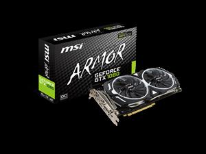 MSI GeForce GTX 1080 Armor OC 8GB Graphics Card