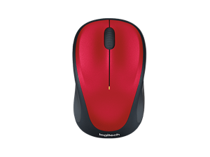 Logitech Wireless Optical Mouse M235 - Red