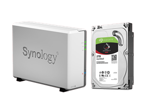 Synology DS115j NAS + 2TB Seagate Ironwolf NAS Drive Bundle