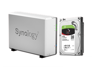 Synology DS115j NAS + 4TB Seagate Ironwolf NAS Drive Bundle