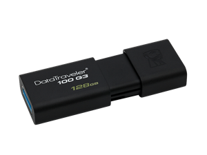 Kingston DataTraveler 100 Gen 3 128GB USB 3.0 Flash Drive