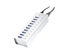 VROVA Plus 10 Port USB3.0 HUB with charging with Power Adaptor