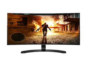 "LG 34UC88-B-34"" Ultrawide Curved IPS Monitor"