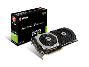 MSI GeForce GTX 1070 Quick Silver Gaming Graphics Card