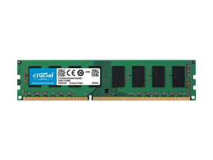 4GB Crucial DDR3 1.35V PC12800 1600MHz CL11 Single Ranked Desktop Memory