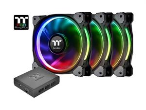 Thermaltake RiiNG Plus 12 LED RGB Radiator Fan TT Premium Edition (3 Fan Pack + Controller)