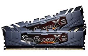 16GB G.Skill Flare-X DDR4 2400Mhz (2x8GB) Ryzen RAM - Black