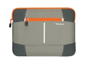 "Targus 14"" Bex II Laptop Sleeve - Grey/Orange"