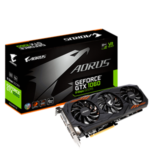Gigabyte GTX 1060 Aorus 6GB w/ Back Plate Cooling Graphics Card