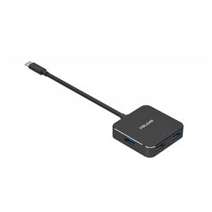 Volans Aluminium USB-C to 4-Port USB 3.0 Hub