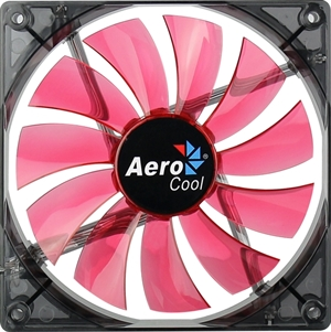 Aerocool Lightning Fan 140mm Red LED Fan