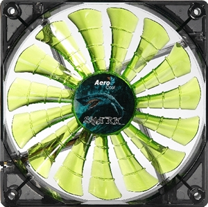 Aerocool Shark Fan 120mm Green LED Fan