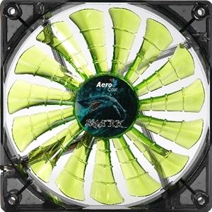 Aerocool Shark Fan 120mm Green LED Fan