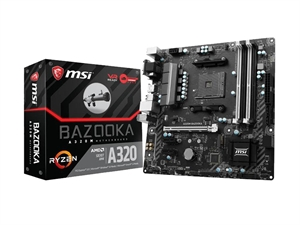 MSI A320M Bazooka AM4 MATX AMD Motherboard