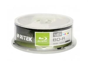 Ritek 6X BD-R 25GB 25pcs Spindle Printable Blu-ray Disc