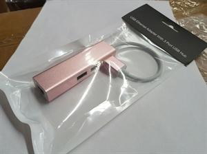 Goldwire 3-Port USB 3.0 Hub + Ethernet Port - Rose Gold