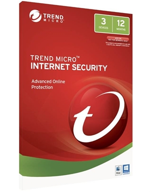 Trend Micro Internet Security 2017 - 3 Devices 1 Year OEM