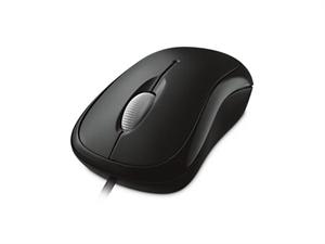 Microsoft Basic Wired Optical Mouse - Black
