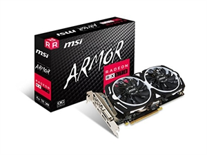 MSI Radeon RX 570 Armor OC 4GB Graphics Card