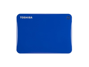Toshiba 1TB Canvio Connect II Portable Hard Drive - Blue