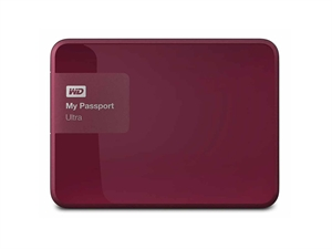 "Western Digital 1TB My Passport Ultra 2.5"" External USB 3.0 Hard Drive - Berry"