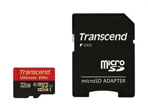 Transcend 32GB MicroSDHC Class10 USH-I 600X 90MB (Ultimate)