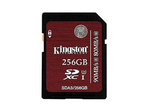 Kingston 256GB UHS-1 CLASS 3 SDXC Memory Card