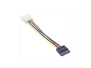 Astrotek SATA Power Cable - 15cm 4 pins Male to 15 pins Female
