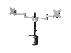 Brateck Elegant Aluminium Dual LCD Monitor Table Stand w/Arm and Desk Clamp