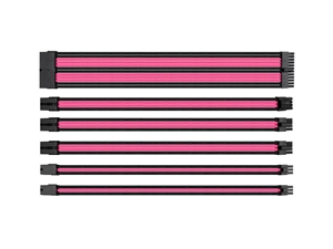 Thermaltake TtMod Sleeve Cable Set - Pink/Black