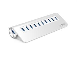 ORICO Aluminum 10 Port Powered USB3.0 Hub - Silver