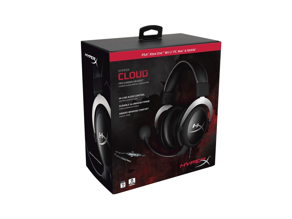 kingston hyperx cloud pro gaming headset silver hx hscl sr na centre com best pc. Black Bedroom Furniture Sets. Home Design Ideas